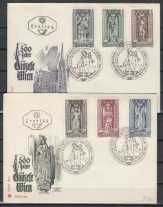 Austria, Scott cat. 830-835. Statues of Saints. St. George. 2 First day covers.