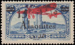 1929-1930 Alaouites #C21, Incomplete Set, Hinged