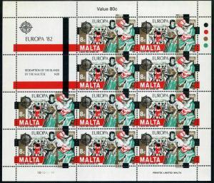 Malta 614-615 sheets,MNH.Michel 661-662. EUROPE CEPT-1982,Redemption,1428.