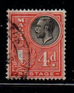 Malta Sc 138 1926 4d range red & black George V stamp used