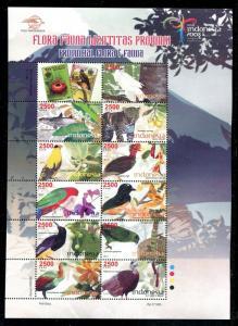 Indonesia 2168, MNH, 2008 Birds,  x31791