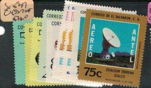 El Salvador SC 594-7, C433-7 MNH (4ecq)