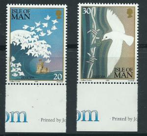 Isle of Man MUH SG 639-640 Margin Copy