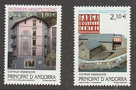 ANDORRA (SPANISH) #282-3 MINT NEVER HINGED COMPLETE