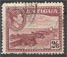ANTIGUA, 1942, used 2sh6p, King George VII, Scott 92