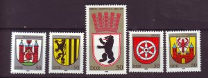 J25351 JLstamps 1983 germany DDR mnh set #2364-8 coat of city arms