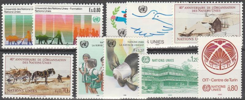 United Nations  Geneva #129-36, 138-9   MNH CV $7.80 (A15056)