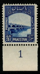 PAKISTAN SG32 1948 3½a BRIGHT BLUE MNH