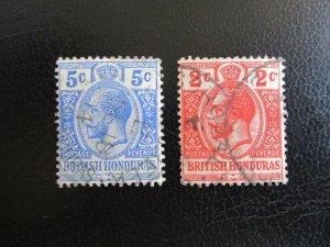 British Honduras #76-77 Used (M7Q1) - Stamp Lives Matter!