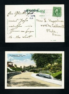 Picture Post Card The Boulevard, Roser Park from St. Petersburg, FL - 12-28-1916