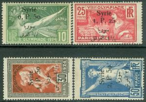 SYRIA : 1924. Yvert #122-25 Olympics. Very Fine, Mint OGH. Catalog €168.00.
