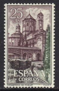 Spain MNH 1963 Poblet Monasterio  25c   #