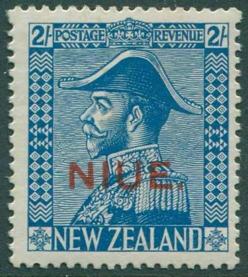 Niue 1928 SG49 2/- light blue KGV MNH