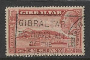 Gibraltar - Scott 96 - KGV Pictorials -1931- FU - Wmk 4 - Single 1p Stamp