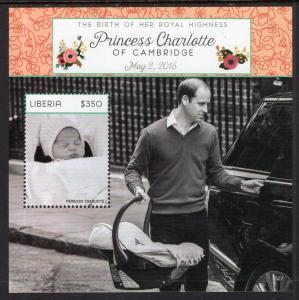 Liberia 3058 Princess Charlotte Souvenir Sheet MNH VF