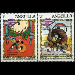 ANGUILLA 1983 - Scott# 547-8 Disney 1-2c NH