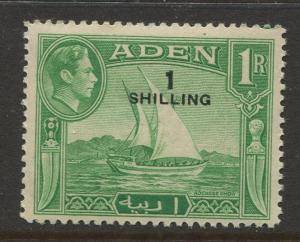 STAMP STATION PERTH Aden #43 KGVI Definitive Overprint Issue 1951 MLH CV$2.75.