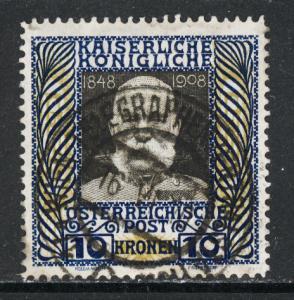Austria 1908  Scott #127 used (CV 65.00)