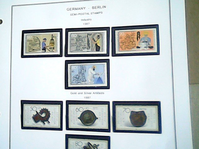 1987-88  Germany - Berlin  Semi-Postal  MNH  full page auction
