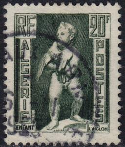 Algeria - 1952 - Scott #244 - used - Child with Eagle