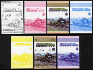 St Lucia 1983 Locomotives #1 (Leaders of the World) $1 Bo...