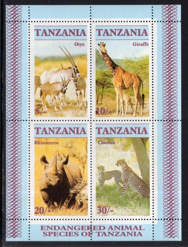 Tanzania MNH S/S 322a Endangered Animals 1986