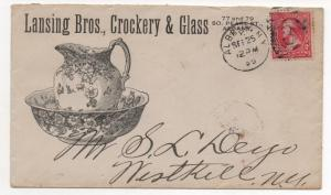ADV COVER Lansing Bros Crockery & Glass Albany NY Sep 25, 1895