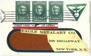 69259 - DOMINICANA - POSTAL HISTORY -  AIRMAIL COVER  to NEW YORK  - ADVERTISING