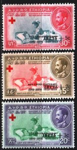 Ethiopia. 1959. 379-81. Red cross, medicine. MNH.