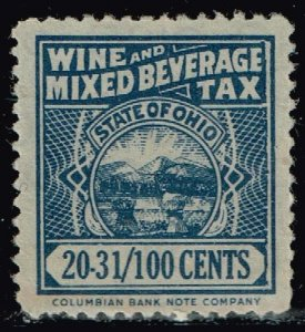 US TAX STAMP STATE OHIO WIND AND MIXED BEVERAGE TAX PAID STAMP LOT #2