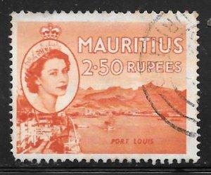 Mauritius 263: R2.50 Port Louis, used, F-VF