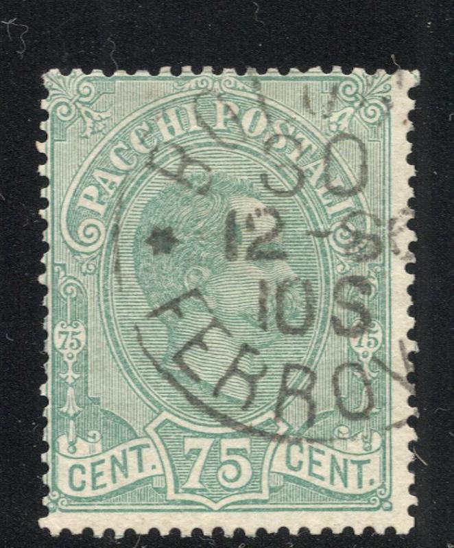 Italy #'s Q4 Blue Green - Parcel Post Stamp - Used