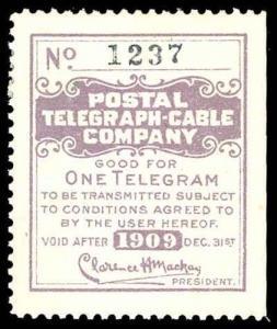U.S. TELEGRAPH 15T41  Mint (ID # 80415)
