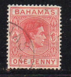 Bahamas Sc 101 1938 1d carmine George VI stamp used