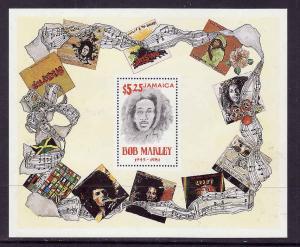 Jamaica-Sc#519-unused NH sheet-Bob Marley-1981-