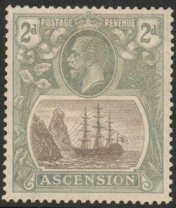 ASCENSION-1924-33 2d Grey-Black & Grey Sg 13 MOUNTED MINT V38025
