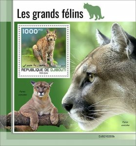 2021/05- DJIBOUTI - BIG CATS           1V complet set    MNH ** T