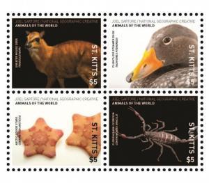 ST KITTS - Animals of the World - Perf 4v Set - MNH