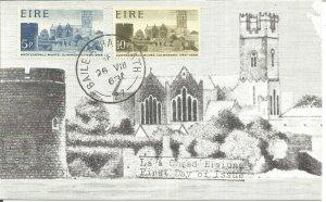 Maximum Card EIRE 1968 Ardteampall Muire Luimneach 1168-1968 FDC U3801