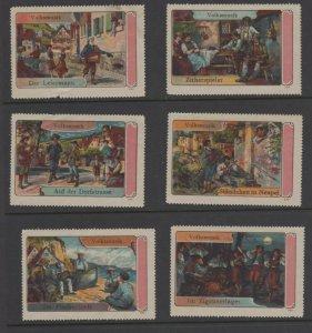 Germany - Complete Vignette of 6 Stamps - Folk Music & Musicians