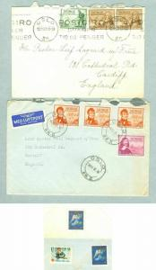 Norway. 2 Covers 1947. Stamp Post 300 Year. With Christmas Seal. Adr: UK.
