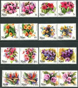 NIUE Sc#317-331 1981 Flowers Part Set To $3 OG Mint NH
