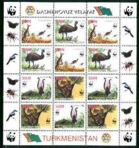 Turkmenistan (Dashkhovuz Velayat) 1998 WWF - Wild Animals...