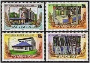 St Vincent 882-885,MNH.Michel 878-881. Industry 1985:Flour Milling.