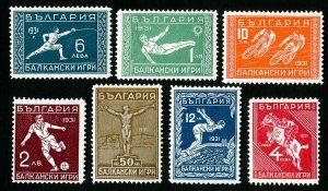 Bulgaria Stamps # 237-43 VF OG Hinged Catalog Value $168.75
