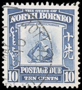 North Borneo Scott J54 Gibbons D89 Used Stamp