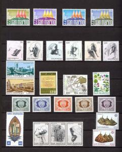 1977 - SAN MARINO - Complete year set - Scott #897 and others - MNH**