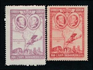 Spain C55a Mint NH brown violet with compare. to carmine lake