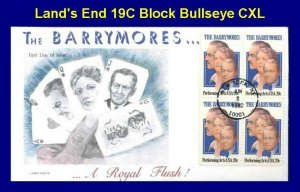 Land's End 19C The Barrymores.. Acting Family A Royal Flush Block of 4