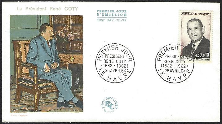 France #B382 April 25, 1964 Le Havre  First Day Cover Unaddressed